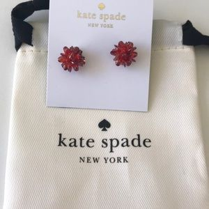 New Kate Spade red rock candy earrings